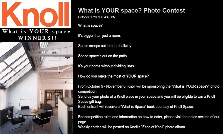 Knoll Contest (10/9/09); 160 5th Avenue Penthouse Studio
