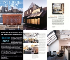 Interior Design Magazine (9/02) pg 218; 160 5th Avenue Penthouse Studio