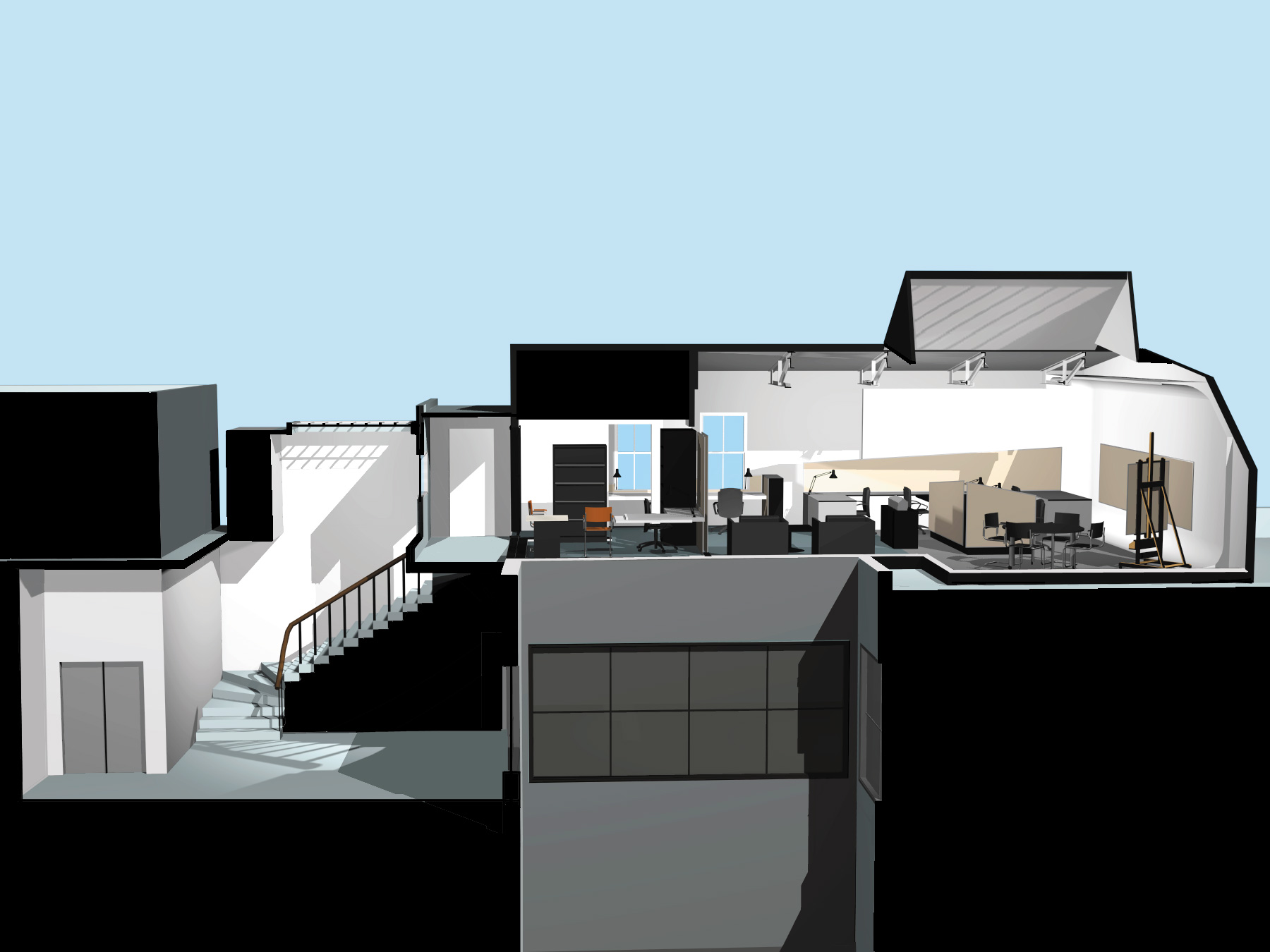 Fifth Avenue Penthouse Section/Perspective