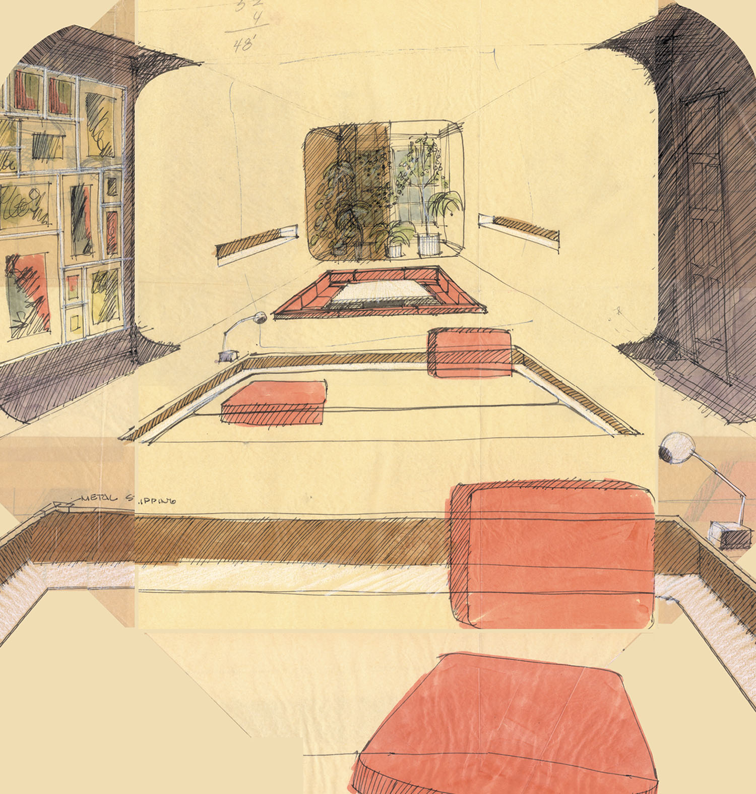 Clinton Hill Apartment Sketch 1