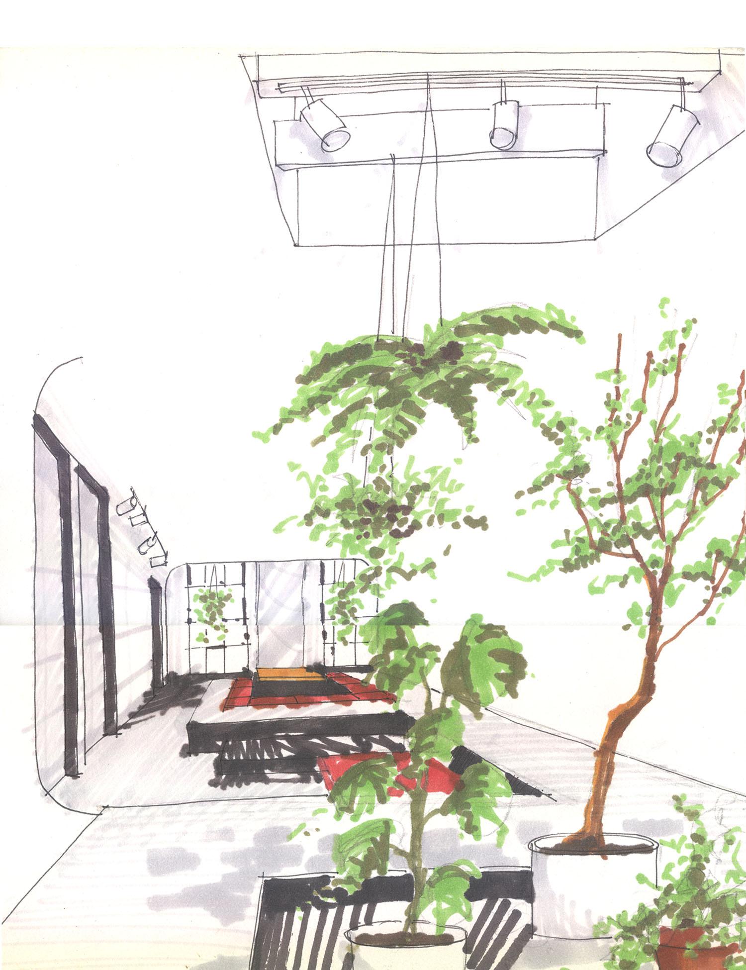 Clinton Hill Apartment Sketch 4