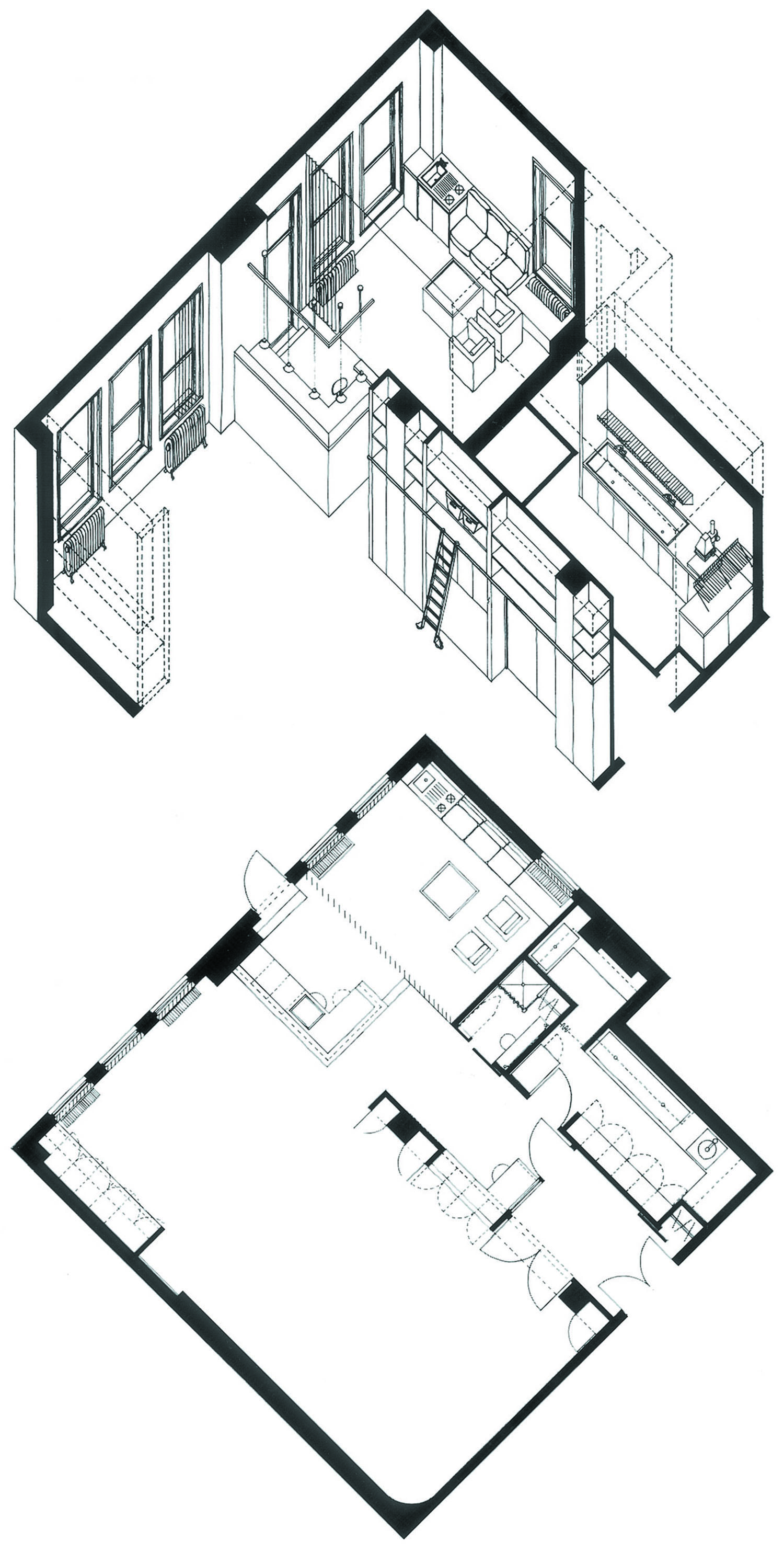 Gallucci Photography Studio Plan & Anoxometric Drawing