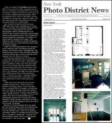 "Photo District News Article (10/81) pg.42; Gallucci ""Studio Layout"""