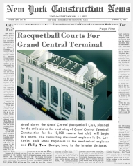 N.Y. Constr.uction News Article (2/18/80) pg5; Grand Central Racquetball Club