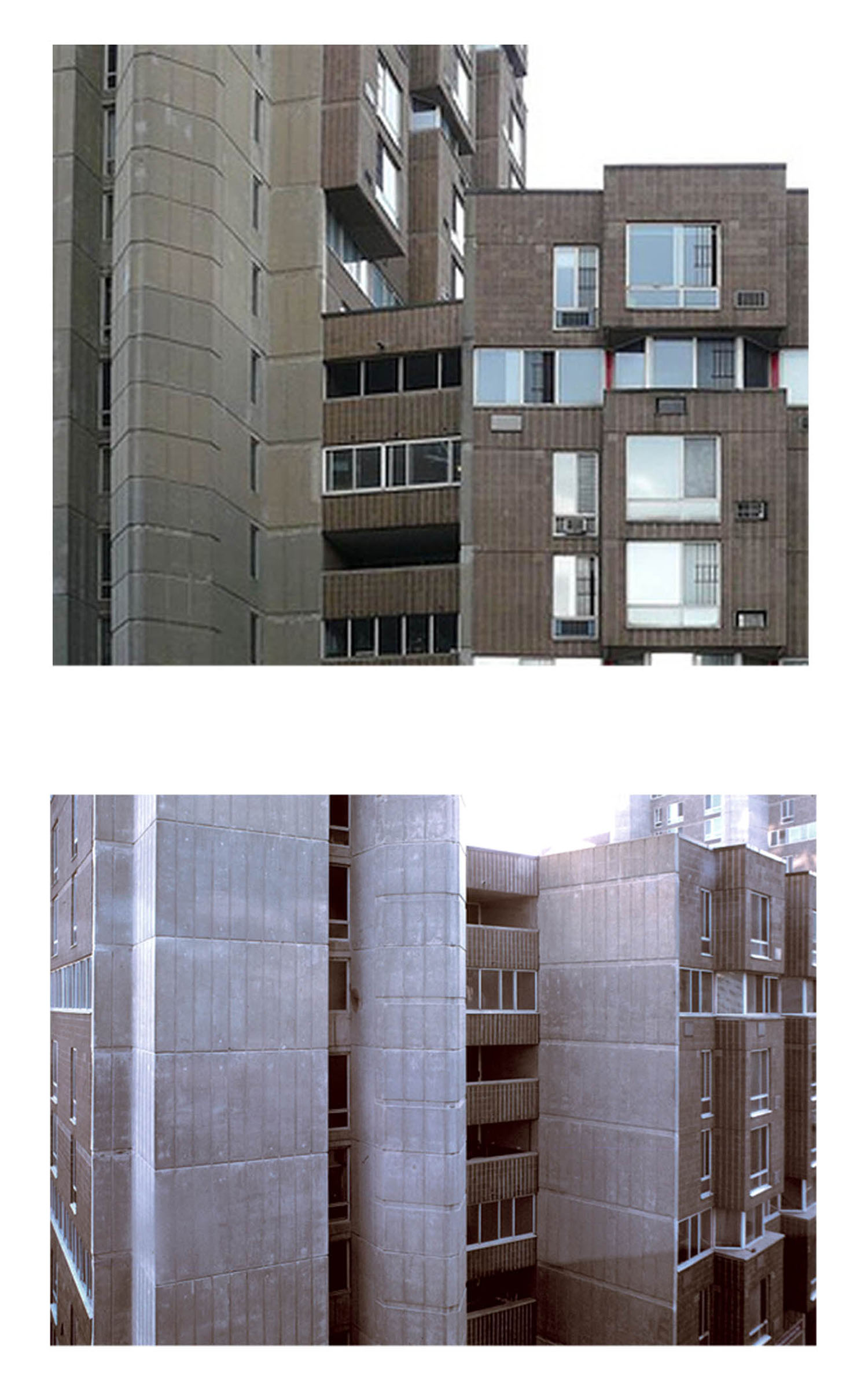 Roosevelt Island Apartment; Facade Detail  View