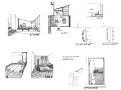 Roosevelt Island Apartment Design Development Sketches