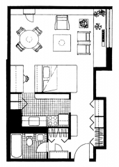 Waterside Apartment Plan